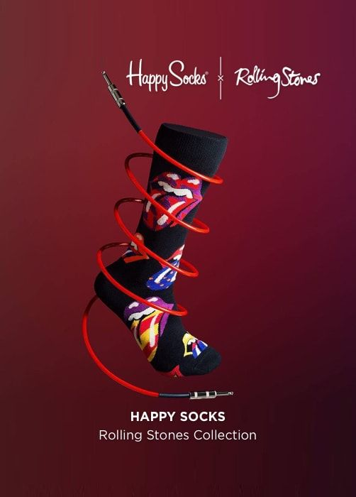 HAPPY SOCKS Rolling Stones collection