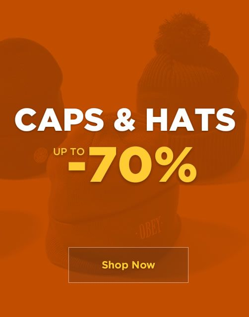 SALE up to -70% - Caps & Hats