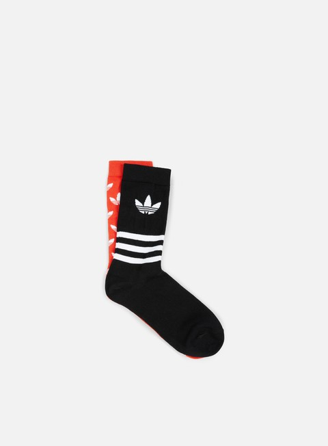 accessori adidas originals aop crew sock bold orange black white