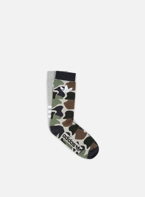 accessori adidas originals aop crew sock medium grey heather multi