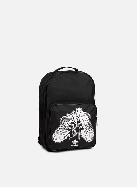 accessori adidas originals classic superstare backpack black white