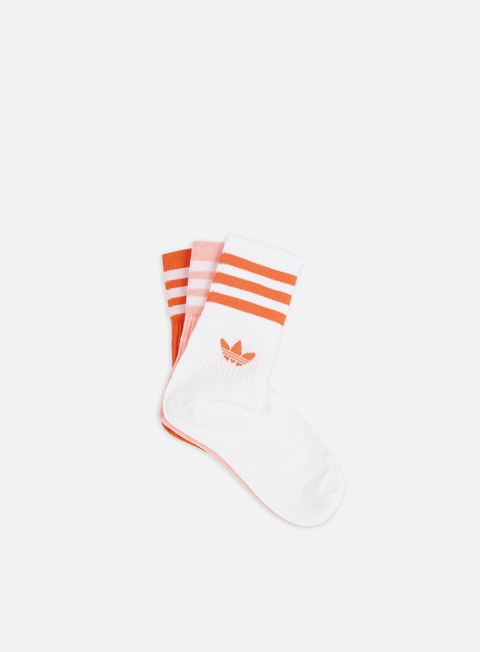 Calze Adidas Originals Mid Cut 3 Pair Crew Socks