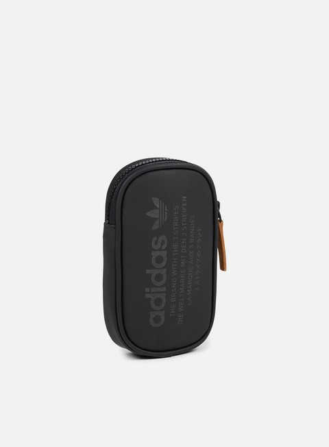 accessori adidas originals nmd pouch bag black leather