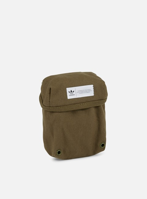 accessori adidas originals pouch bag olive cargo