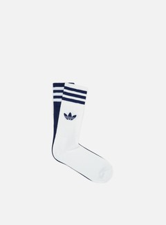 Adidas Originals - Solid 2 Pair Crew Socks, Dark Blue/White