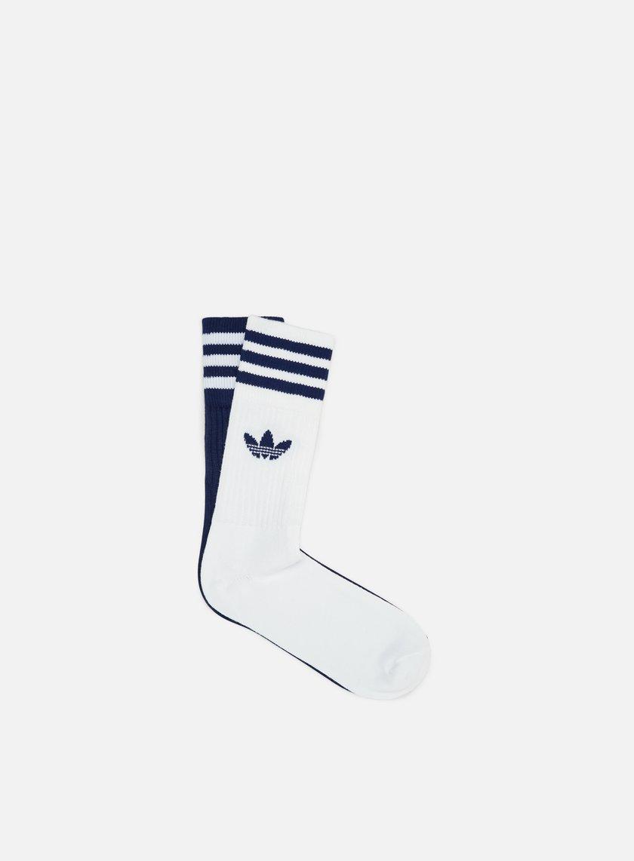 Adidas Originals Solid 2 Pair Crew Socks