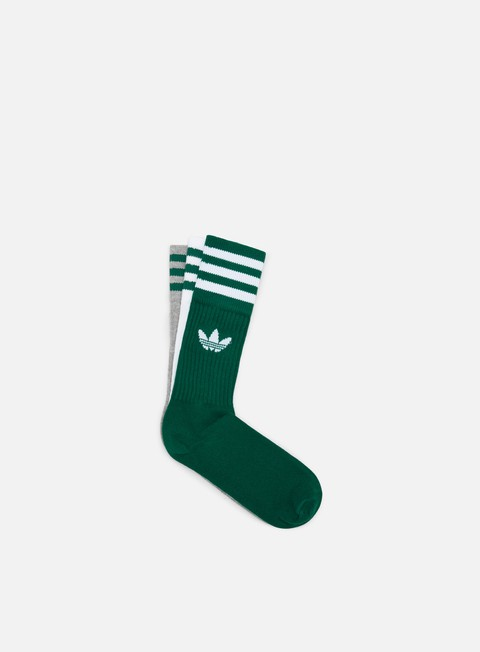 Adidas Originals Solid 3 Pair Crew Socks