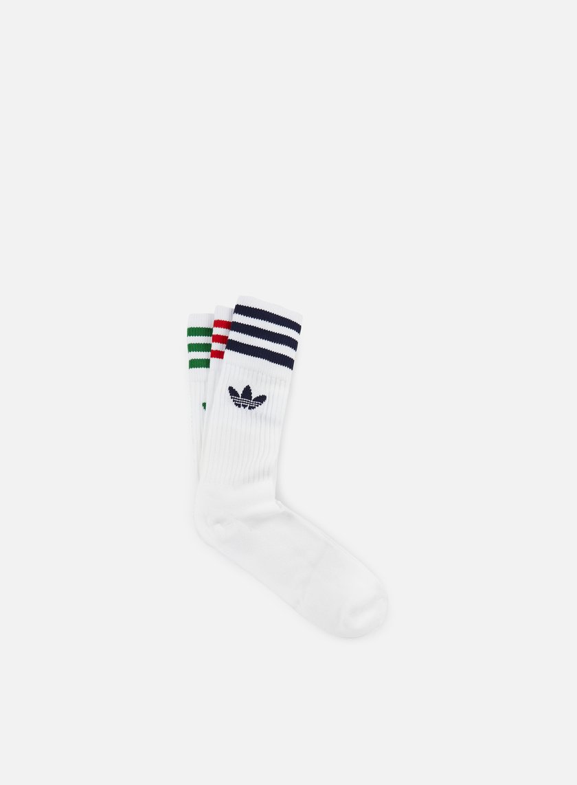 Adidas Originals - Solid Crew Socks 3, White/Multi