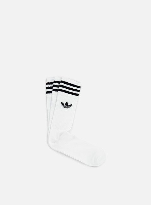 accessori adidas originals solid crew socks 3 white old no child