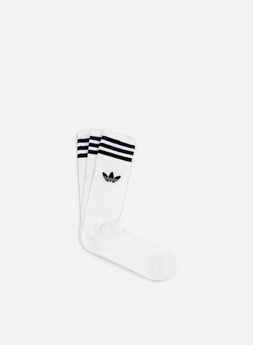 Adidas Originals - Solid Crew Socks 3, White OLD NO CHILD