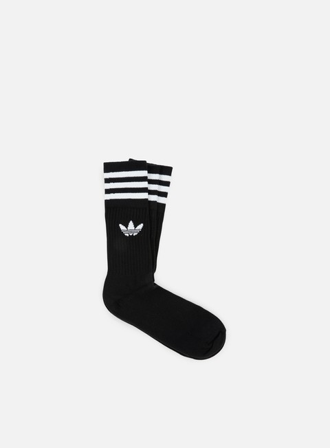 accessori adidas originals solid crew socks black white