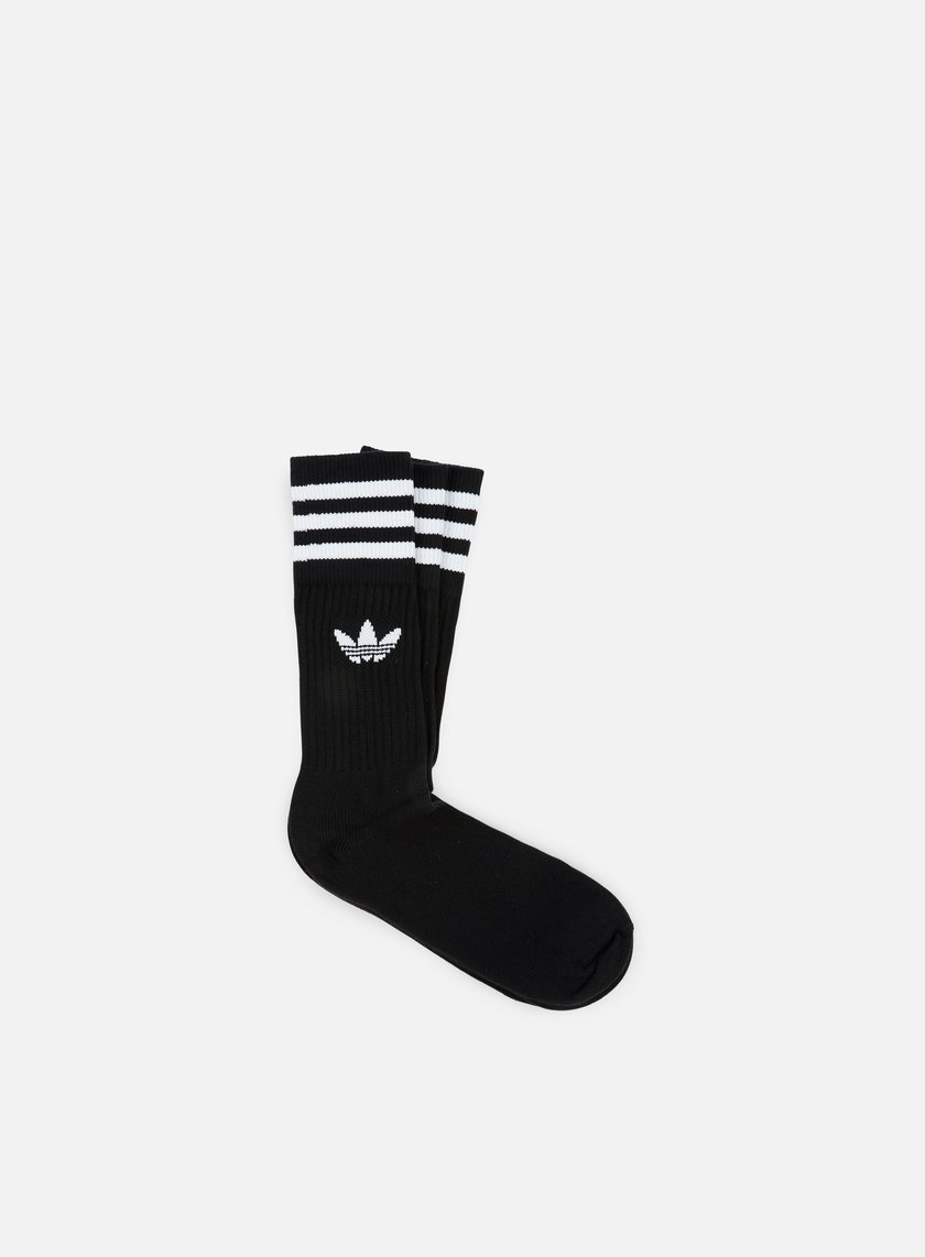 Adidas Originals - Solid Crew Socks, Black/White