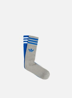 Adidas Originals - Solid Crew Socks, Blue/Grey/White