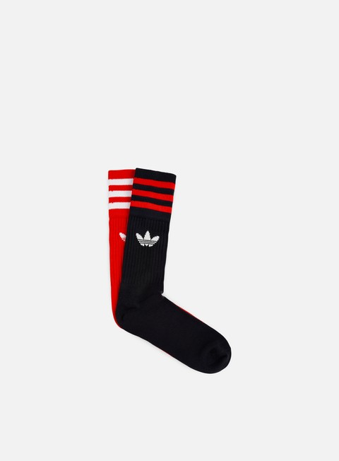 accessori adidas originals solid crew socks core red legend ink white