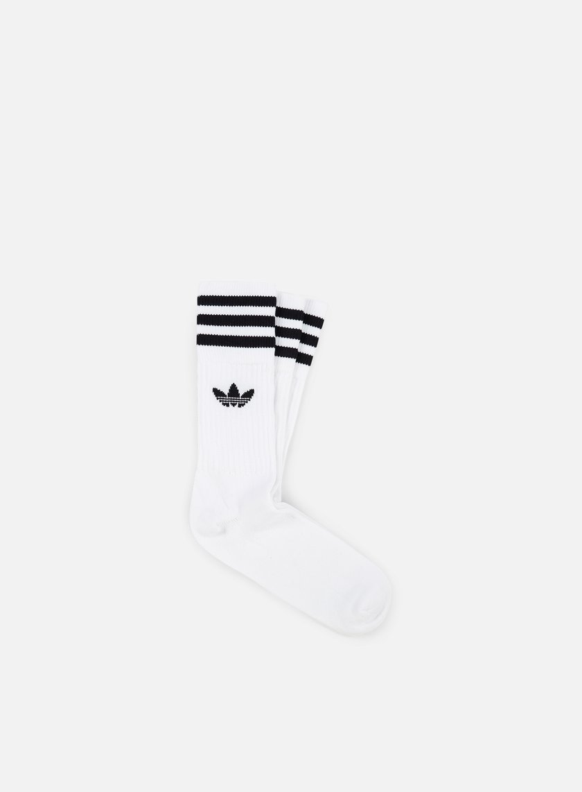 Adidas Originals - Solid Crew Socks, White/Black