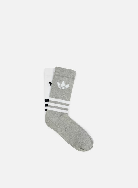 accessori adidas originals thin crew socks white medium grey heather