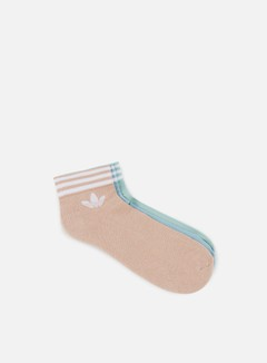 Adidas Originals - Trefoil Ankle Stripe Socks, Multicolor
