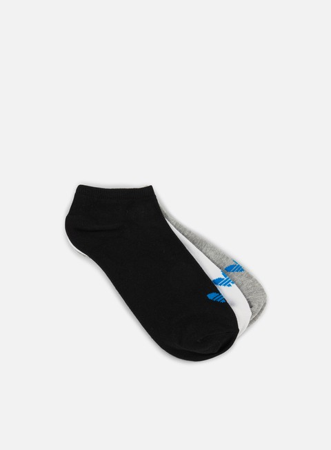 accessori adidas originals trefoil liner socks white black medium grey heather