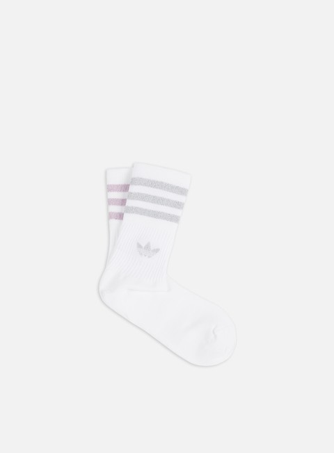 Socks Adidas Originals WMNS Mid Cut 2 Pair Glitter Socks