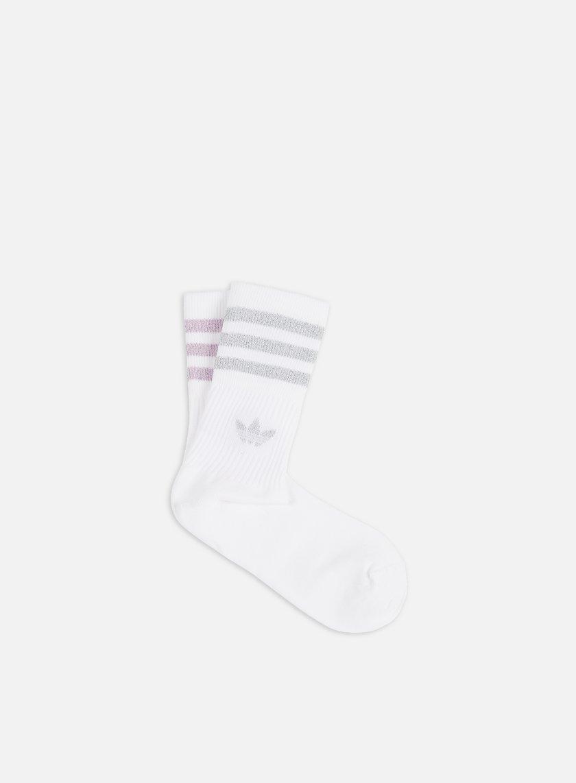 Adidas Originals WMNS Mid Cut 2 Pair Glitter Socks