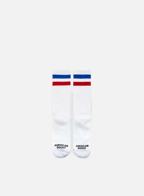 accessori american socks american pride i mid high white blue red