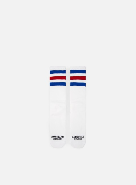 accessori american socks american pride ii mid high white blue red blue