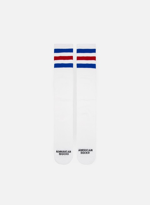 accessori american socks american pride knee high white blue red blue