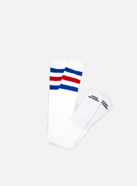 accessori american socks american pride ultra high white blue red blue