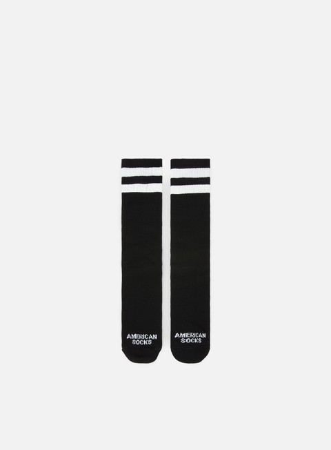 accessori american socks back in black i mid high black white white