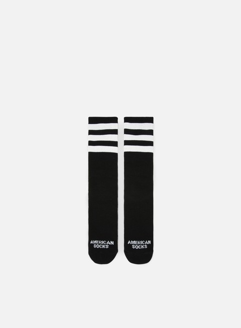 accessori american socks back in black ii mid high black white white white