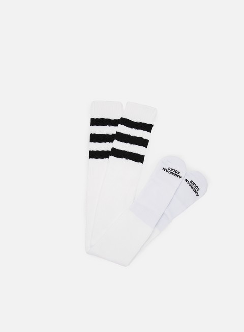 accessori american socks back in black ultra high white black black black