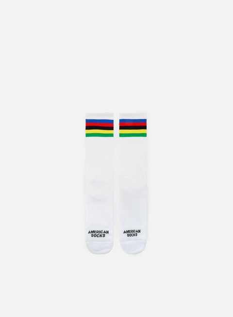 accessori american socks champion mid high green yellow black red blue