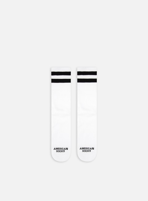 accessori american socks old school i mid high white black black