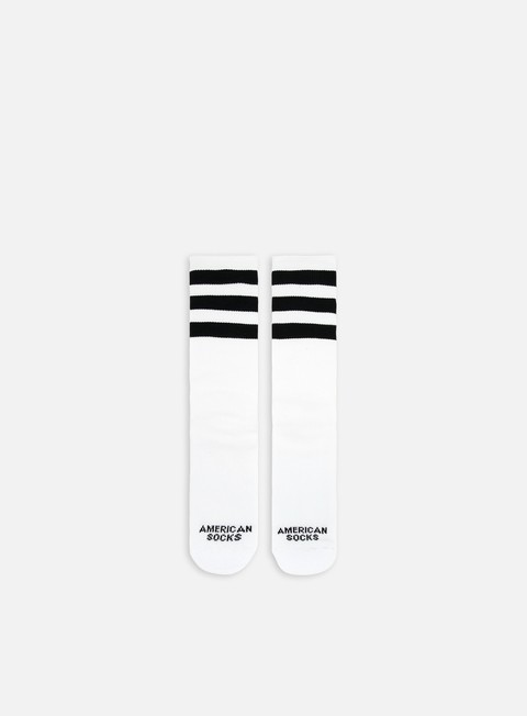accessori american socks old school ii mid high white black black black