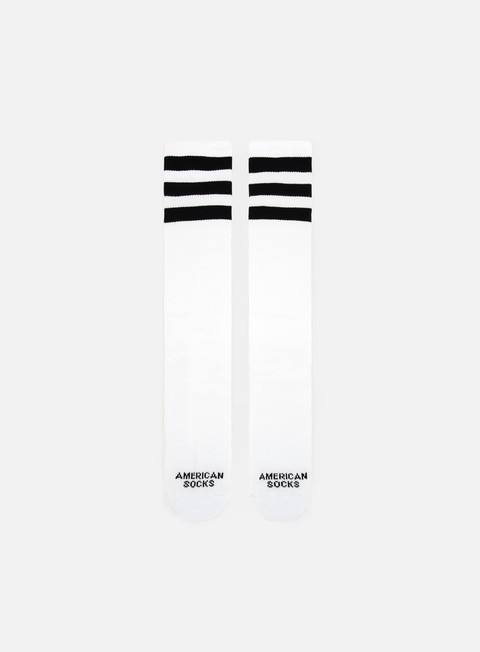 accessori american socks old school knee high white black black black