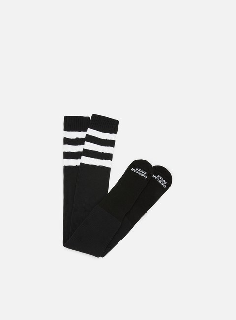 accessori american socks old school ultra high black white white white