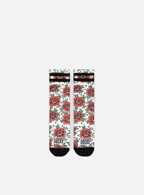accessori american socks sock n roses signature mid high roses