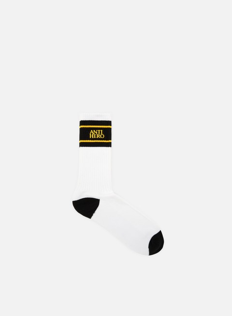 accessori antihero eagle up socks white black yellow