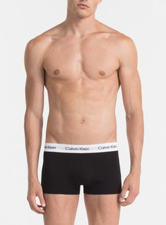 Calvin Klein Underwear - Cotton Stretch 3 Pack Low Rise Trunk, Black 2