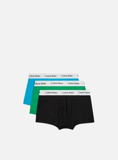 Calvin Klein Underwear - Cotton Stretch 3 Pack Low Rise Trunk, Black/Impulsive/Adri Zxd