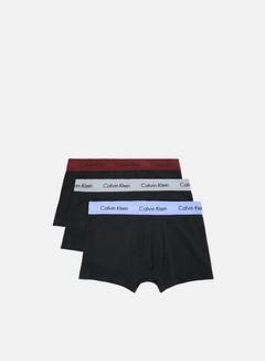 Calvin Klein Underwear - Cotton Stretch 3 Pack Low Rise Trunk, Monument/Pheobe