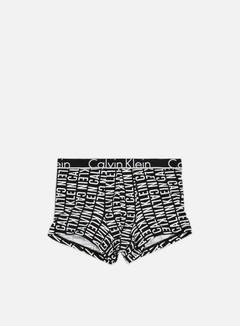 Calvin Klein Underwear - ID Cotton Trunk, Reverse Logo Print Black 1