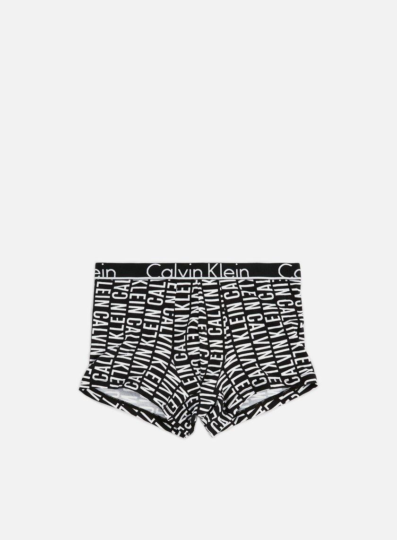 Calvin Klein Underwear - ID Cotton Trunk, Reverse Logo Print Black
