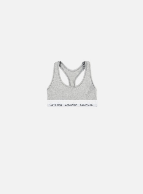 accessori calvin klein underwear wmns modern cotton bralette grey heather