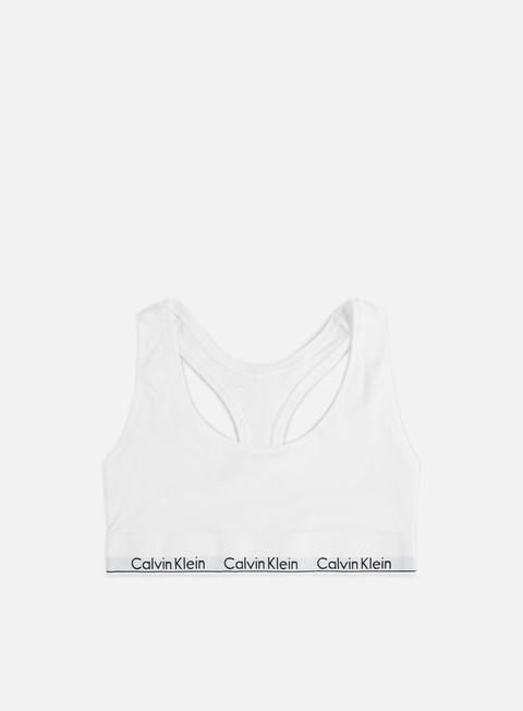accessori calvin klein underwear wmns modern cotton bralette white