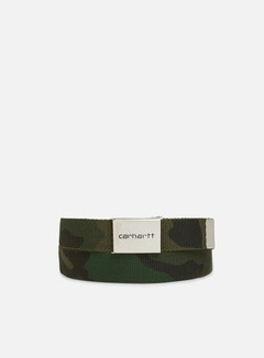 Carhartt - Clip Belt Chrome, Camo Combat Green