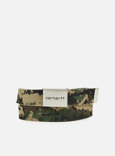 accessori carhartt clip belt chrome camo painted