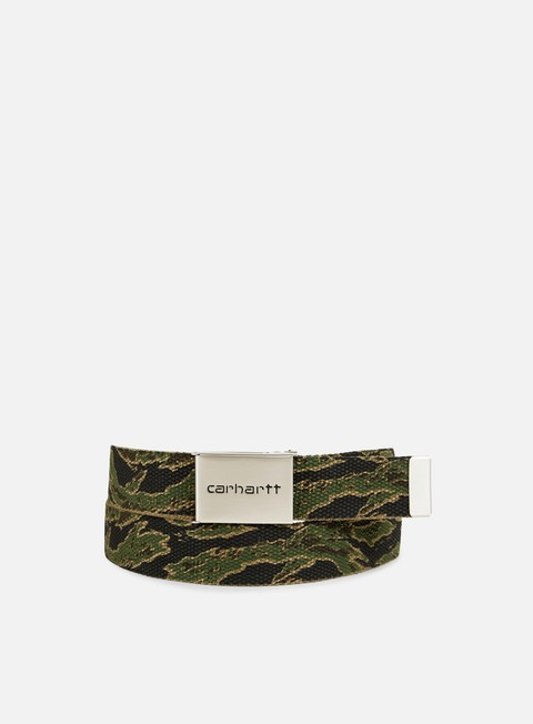 accessori carhartt clip belt chrome camo tiger