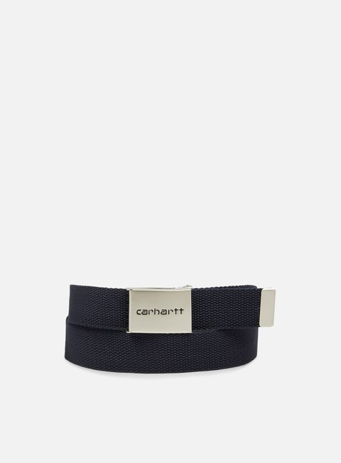 accessori carhartt clip belt chrome dark navy