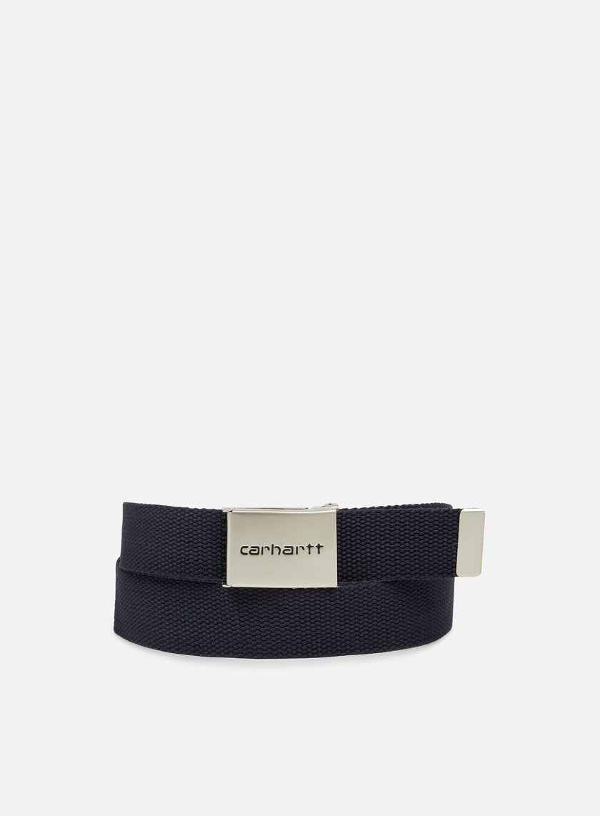 Carhartt - Clip Belt Chrome, Dark Navy